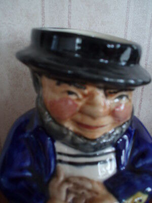 """Roy Kirkham Toby Jug Modeled As A Sailor  Handpainted In Staffordshire 5"""" High"""