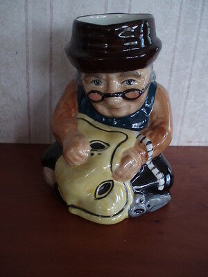"""Roy Kirkham Toby Jug Modeled As A Taylor Handpainted In Staffordshire 5"""" High"""