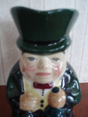 """Roy Kirkham Toby Jug Modeled As A Toff Handpainted In Staffordshire 5"""" High"""