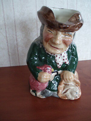 Roy Kirkham Toby Jug Modeled As A Thief Handpainted In Staffordshire 5 Inch High