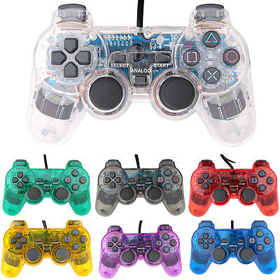USB ABS Twin Shock Game Controller For Sony PS2 PlayStation 2 Console Gamepads