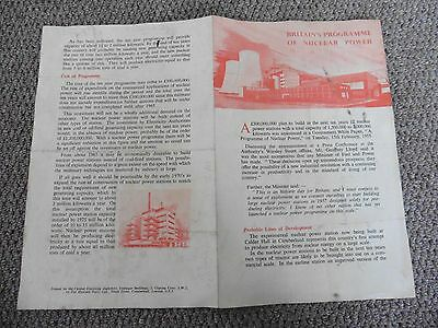Britain's Programme Of Nuclear Power, ca. 1955 Pamphlet.