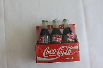 Vintage Brand New  COCA COLA 6-Pack Desk Pak 1995 FREE SHIPPING