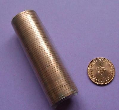 Brilliant Uncirculated 1971 HALF PENCE X 50 in original sealed roll.