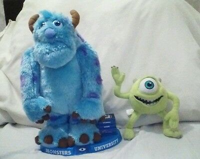 "monsters inc. Mikey & Sully story telling toy. 14"" high. GWO. Moving arms/mouth."