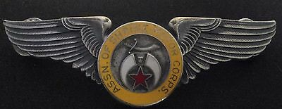 Assn. of Shrine Motor Corps. Sterling  3 Inch Wings 23.8 Grams