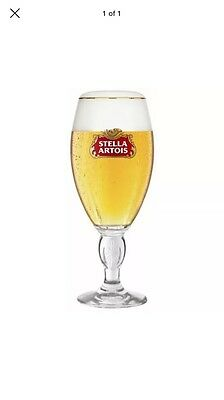 2 x STELLA ARTOIS HALF PINT GLASS CHALICE OFFICIAL CE STAMPED