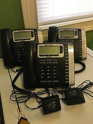Allworx 9212 VOIP Phone Lot Of 3 With 2 Power Adapters