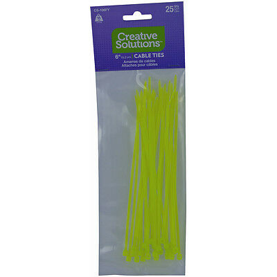 "Cable Ties 6"" 25/Pkg Fluorescent Yellow CS-106-FY"