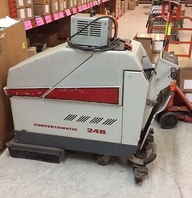 Advance 24B Convertamatic walk behind floor scrubber w/ 24 Volt Charger