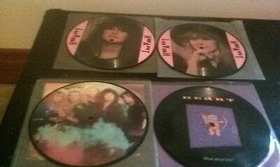 """Heart 7"""" picture disc lot"""