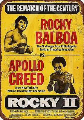 1979 Rocky Balboa vs. Apollo Creed Vintage Look Reproduction Metal Sign 8 x 12