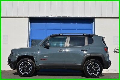 2016 Jeep Renegade Trailhawk 4WD 4X4 2.4L Full Power Rear View Camera Repairable Rebuildable Salvage Lot Drives Great Project Builder Fixer Easy Fix