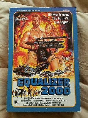 Equalizer 2000 BETA not VHS Sleaze Action warlords apocalyptic future