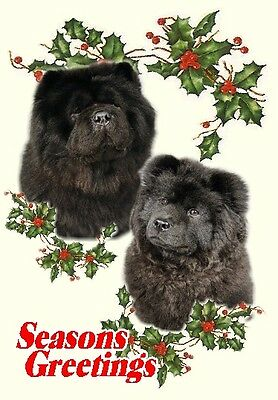 Chow Chow Dog A6 Christmas Card Design XCHOW-3 by paws2print