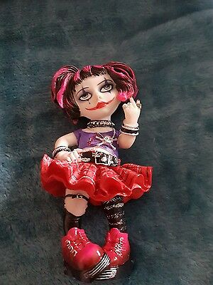 Goth Girl Ornament By Veronese Designs