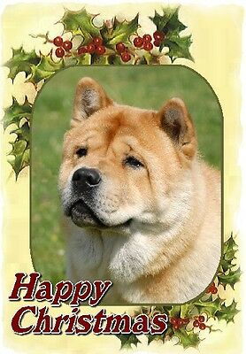 Chow Chow Dog A6 Christmas Card Design XCHOW-6 by paws2print