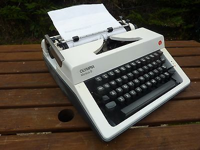 Vintage Olympia Monica S Typewriter With The Case Collectable Stage Prop Display