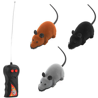 Wireless RC Remote Control Electronic Rat Mouse Mice Toy for Cat Puppy Gift