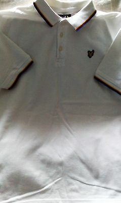 Lyle And Scott Boys White Classic  Polo Shirt Age 14/15 Years