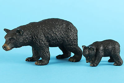 Schleich Retired 2011 Female Black Bear 14316 & Cub 14326 circa 2002  VGC