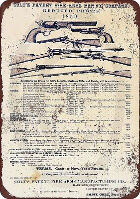 1859 Colt Firearms Vintage Look Reproduction Metal Sign 8 x 12 USA