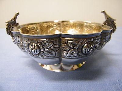 Sanborns Aztec Rose Bowl Mexico City Silver Sterling (146g)