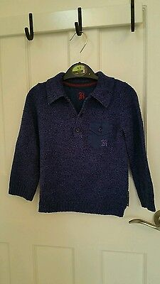Baby K Polo Shirt Blue 18 -24months collared shirt