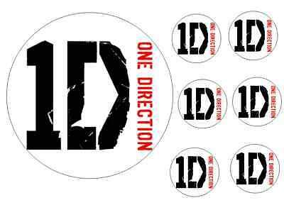 ONE direction 16cm cake topper  6 5cm cupcake toppers  ICING printed edible ink