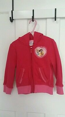 Disney princess zip-up hoodie jacket, lovely warm n pretty. Size 3-4 yrs