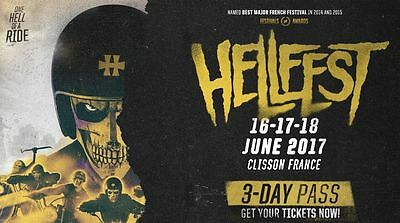 2 Pass 3 Jours HELLFEST 2017 + Camping - Festival Sold Out !
