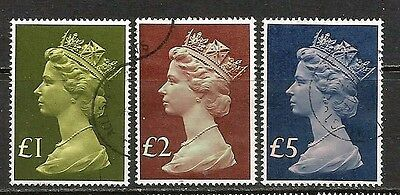 High value machin stamps.
