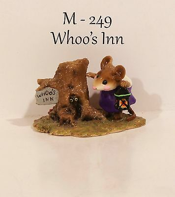 "Wee Forest Folk M-249 Whoo's Inn ""Special Color"" Initialed By ""DP"" With WFF Box"