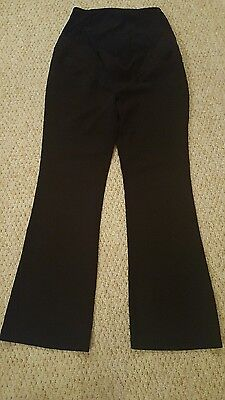 Next black maternity over bump trousers 10R