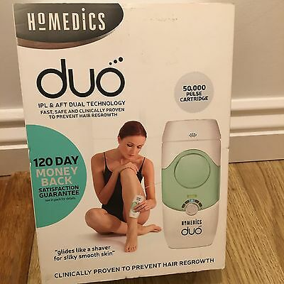 HoMedics Duo IPL + AFT Salon Hair Reducion System Face and Body Fast and Safe