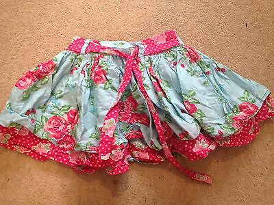 Girls Lovely Blue And Pink Flower Design Skirt 3 Years Pumpkin Patch