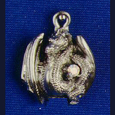 Dragon Necklace Wings Open Pewter Swarofski Crystal