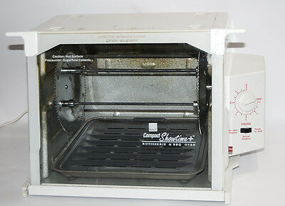 Ronco Compact Showtime Rotisserie Oven White 3000 Countertop Roaster Tested