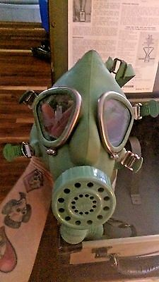 Vintage Willson WLG Gas Mask w/Hard Case Canister Christmas
