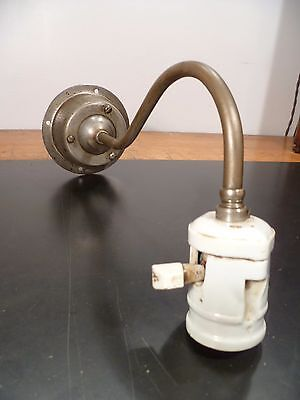 antique industrial lamp sconce Faries lamp O C White era 1911 antique socket