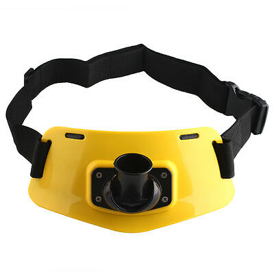 Stand Up Fishing Gimbal Padded Belt Waist Rod Holder Big Game Yellow Sports