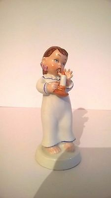 Vintage Royal Dux Girl With candle Figurine