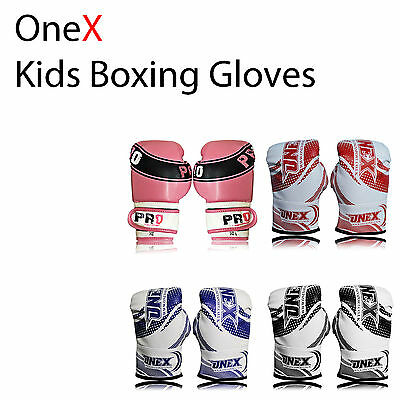 2oz-6o kids boxing gloves, Bag sparring mma training kick boxing Mitt muay thai
