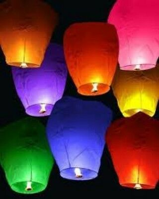 50 Chinese Fire Wishing Sky Paper Fly Lamp Candle Lanterns Wedding Birthday