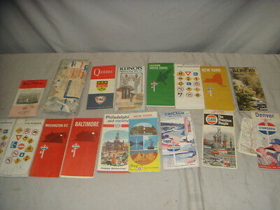 Lot 16 Vintage Gas Station USA Assorted State Maps