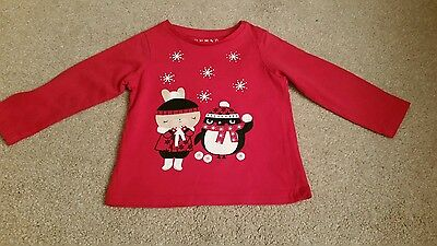 Christmas girls t-shirt 1.5-2 years xmas day outfit