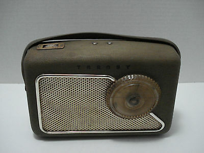 Battery Wooden Transistor Radio Transy Vintage Functional Used