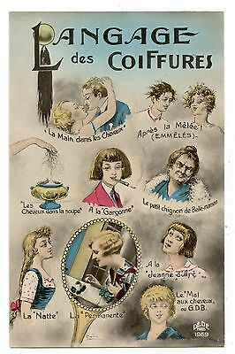 Langages Des Coiffures.languages Of Hairstyles.