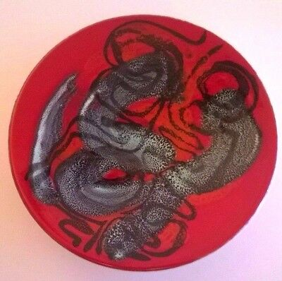 Poole Pottery Delphis Plate  Signed Patricia Wells Shape 49