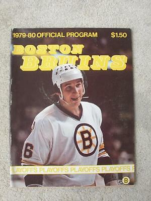NHL 1979-1980 -Boston Bruins Official Program FAST SHIP